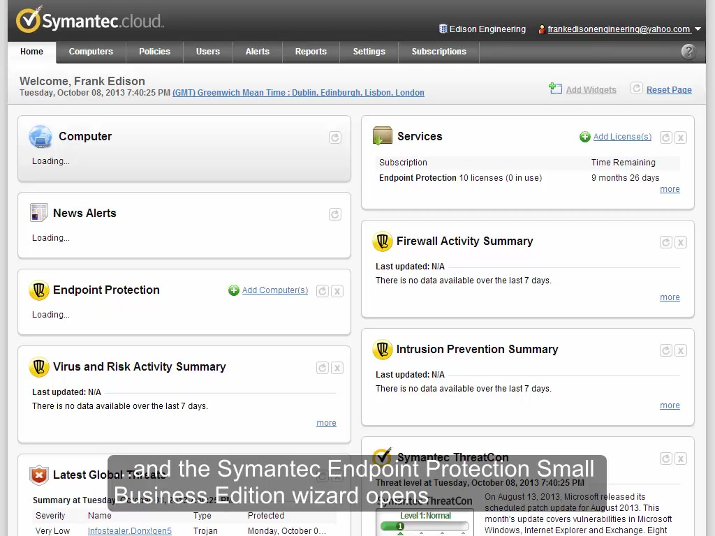 Using the Symantec Endpoint Protection Small Business